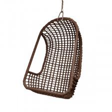 HK Living Wiszący fotel na zewnątrz brązowy RAT0046