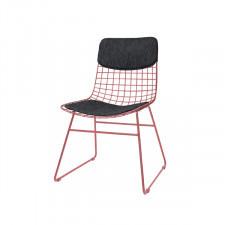 HK Living Zestaw COMFORT czarny do krzesła metalowego WIRE TAA1287