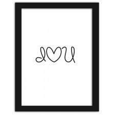 I love U, Plakaty w ramie