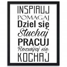 Inspiruj, Plakaty w ramie