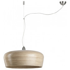 It's About RoMi Hanging lamp bamboo Hanoi round dia.60xh.25cm/1-shade hanging system, natural HANOI/