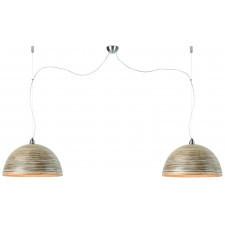 It's About RoMi Lampa wisząca Halong bambus 53x35cm/ 2-abażurowy system, ciemny naturalny HALONG/H2/