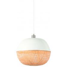 It's About RoMi Lampa wisząca Mekong bambus 40x32cm/ abażur okrągły, biały/naturalny MEKONG/H32/W