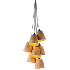 It's About RoMi Lampa wisząca Sequoia z drewna sekwoi/ 7-abażurowa 17x16cm, naturalny SEQUOIA/H7