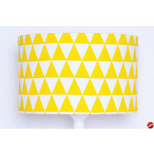 majunto Abażur Triangles Yellow 40x40x25cm