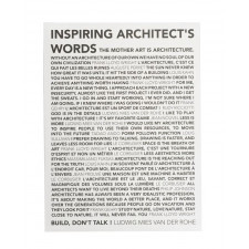 Plakat Inspiring Architects Words