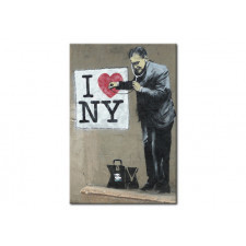 Plakat metalowy 31x46 New York m-C-0194-s-a