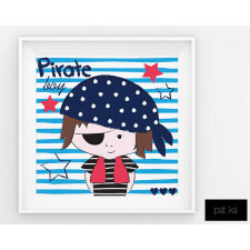 Plakat Pirate Boy 50 x 50