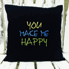 Poduszka 40x40cm You make me happy