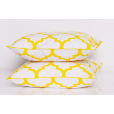 Poduszka FRESH YELLOW-WHITE 50x50cm od majunto