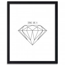 Shine like a diamond, Plakaty w ramie