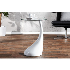 Stolik kawowy Tear Drop White 55cm