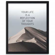 Your life is a reflection, Plakaty w ramie