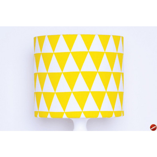 Abażur Triangles Yellow 25x25x22cm