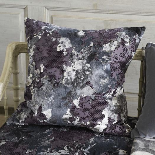 Abstrakcyjna poduszka Designers Guild z kwiatowym motywem 60x60 cm