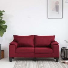 2-osobowa sofa, kolor czerwonego wina, tapicerowana tkaniną