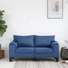 2-osobowa sofa, niebieska, tapicerowana tkaniną