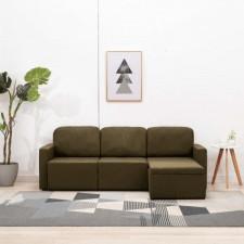 3-osobowa kanapa modułowa, brązowa, tkanina