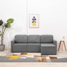 3-osobowa kanapa modułowa, jasnoszara, tkanina