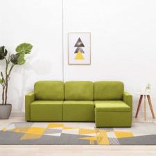 3-osobowa, rozkładana sofa modułowa, zielona, tkanina