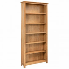 6-poziomowy regał na książki, 80 x 22,5 x 170 cm, drewno dębowe