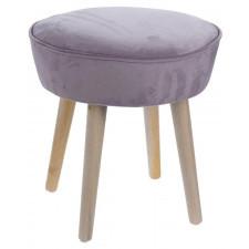 Aksamitny stołek amber p velvet w stylu skandynawskim
