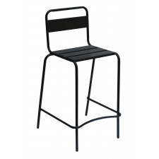 Aluminiowy stołek barowy z oparciem alegria