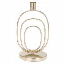 Aluminiowy świecznik glamour złoty 21,5 cm