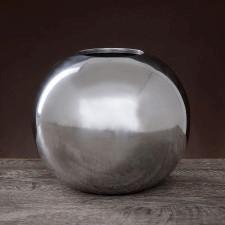 Aluminiowy wazon w kształcie kuli o średnicy 19cm