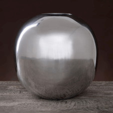 Aluminiowy wazon w kształcie kuli o średnicy 24cm