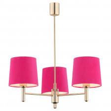 Argon 1498 ponte 3x15w lampa wisząca mosiądz/różowy