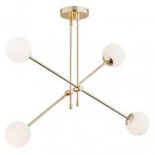 Argon 1695 abstract 4x7w lampa wisząca stal mosiądzowana/biały