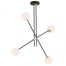 Argon 1696 abstract 4x7w lampa wisząca czarny/biały stal mosiądzowana