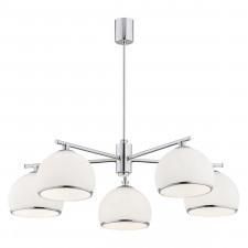 Argon 2087 marbella 5x15w lampa wisząca chrom/biały