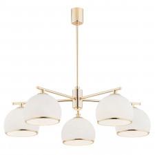 Argon 2088 marbella 5x15w lampa wisząca złoty/biały