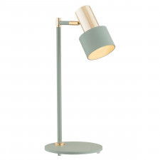 Argon 4276 doria 1x15w lampka stołowa szałwia/złoty