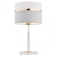 Argon 4286 kaser 1x15w lampka stołowa biały/szary/złoty