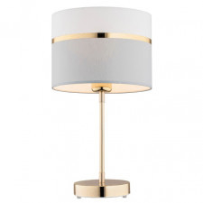 Argon 4298 kaser 1x15w lampka stołowa biały/szary/mosiądz