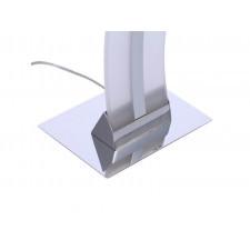 Azzardo az1292 bertone 1x37w led lampa podłogowa biały/chrom