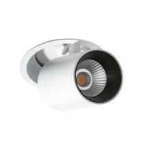 Azzardo az2828 luna 1x15w led lampa wpuszczana reflektor biały/czarny