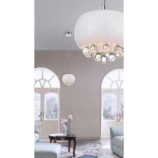 Azzardo az3080 quince 1 lampa sufitowa wisząca 1xg9 biały/kryształ