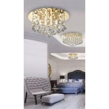 Azzardo az3083 bolla 38 plafon lampa sufitowa 5xg9 złoty/kryształ