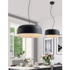 Azzardo az3162 tarant 48 lampa sufitowa wisząca 3xe27 czarny/kryształ