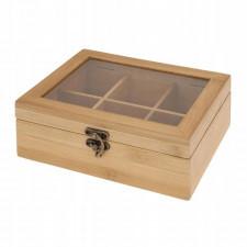 Bambusowy organizer pojemnik pudełko na herbatę