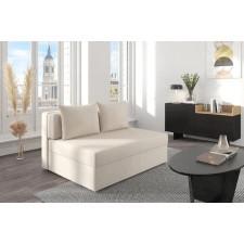 Beżowa rozkładana sofa dancan olga z funkcją spania i pojemnikiem na pościel / szerokość 136 cm
