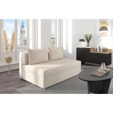 Beżowa rozkładana sofa dancan olga z funkcją spania i pojemnikiem na pościel / szerokość 156 cm