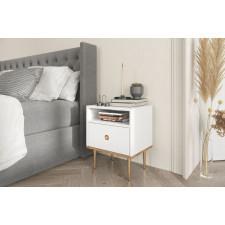 Biała nowoczesna szafka nocna skandica harmoni