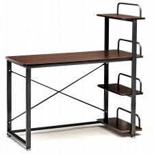 Biurko komputerowe biurowe z półkami loft