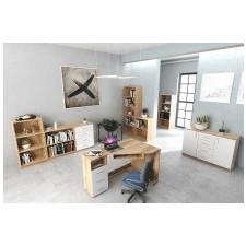 Biurko narożne gato office iii 120 cm dąb wotan