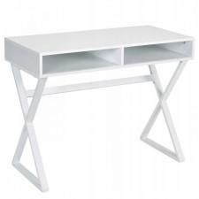 Biurko proste z 2 półkami w stylu nowoczesnym